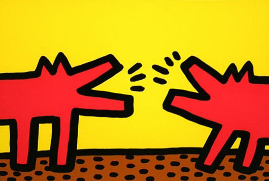 """Pop Shop IV (Barking Dogs)"", de Keith Haring."