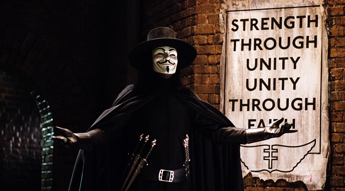 Escena de la película V de Vendetta (James McTeigue, 2005).