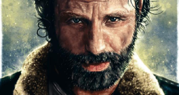 Rick Grimes (dibujo), por p1xer; pueden verse otros trabajos en Nuvango.