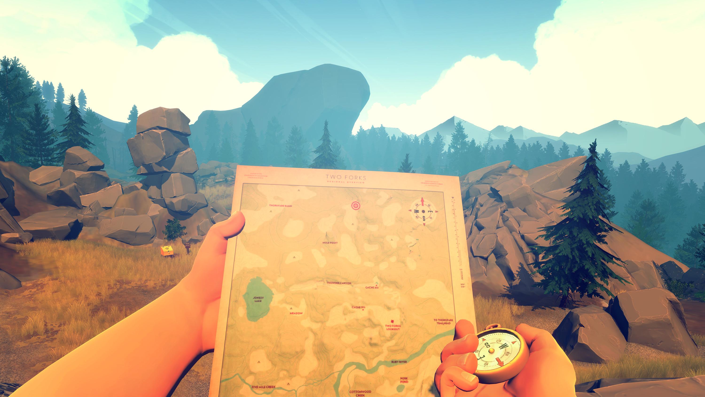Firewatch (mapa; brújula)