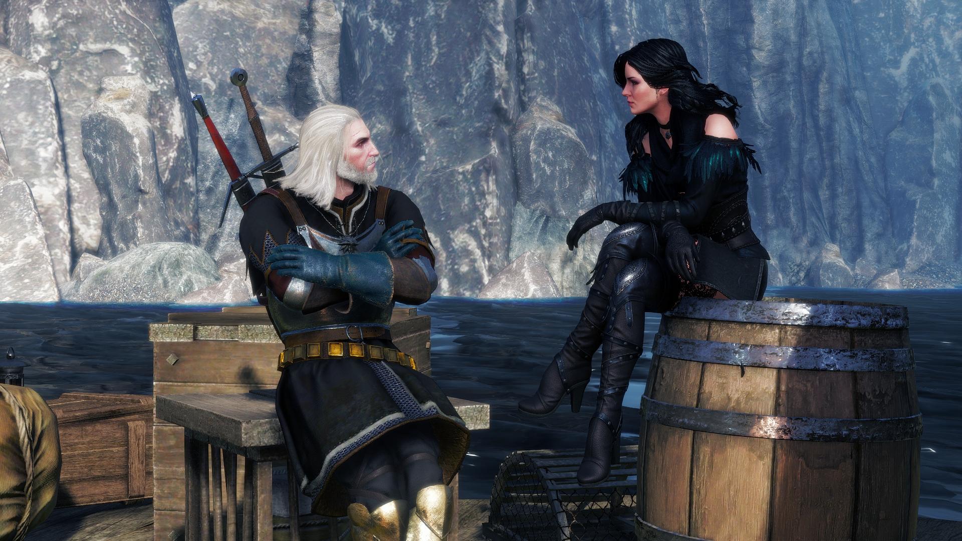 Geralt de Rivia y Yennefer de Vengerberg en Skellige..